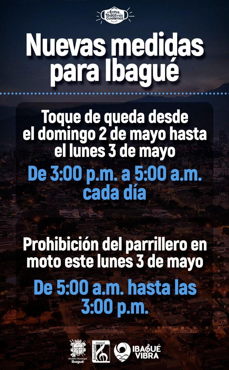 Atentos: Toque de queda arranca a las 3:00 de la tarde este domingo