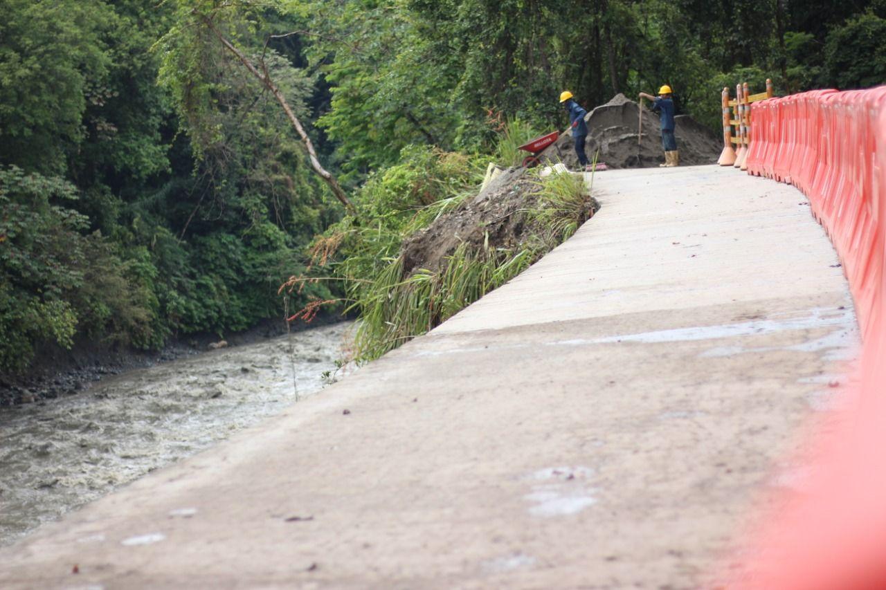 Inicia intervención del punto crítico en la vía Ibagué - San Luis