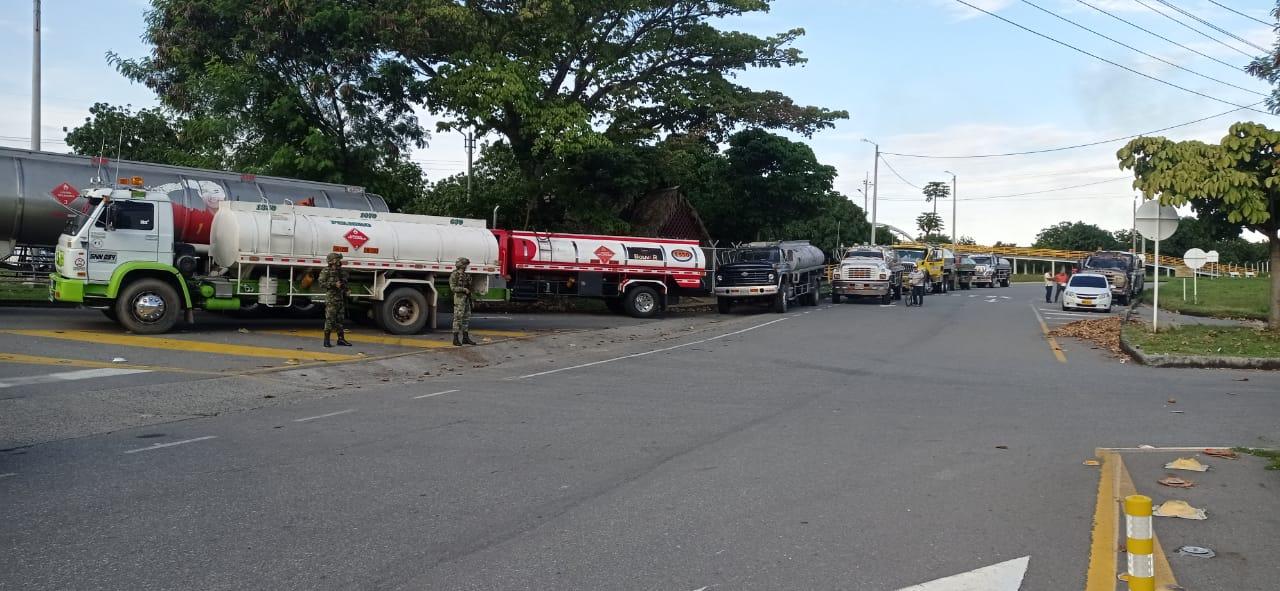 Manifestantes dieron vía libre al paso de combustible en el Tolima