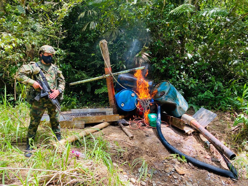 Un capturado en Mariquita por minería ilegal