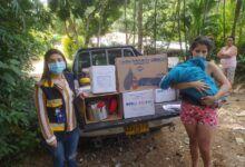 Familias de San Bernardo damnificadas por las lluvias recibieron ayudas humanitarias