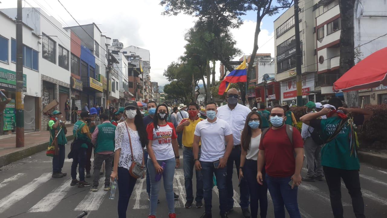 Gestores de convivencia acompañan las manifestaciones en Ibagué
