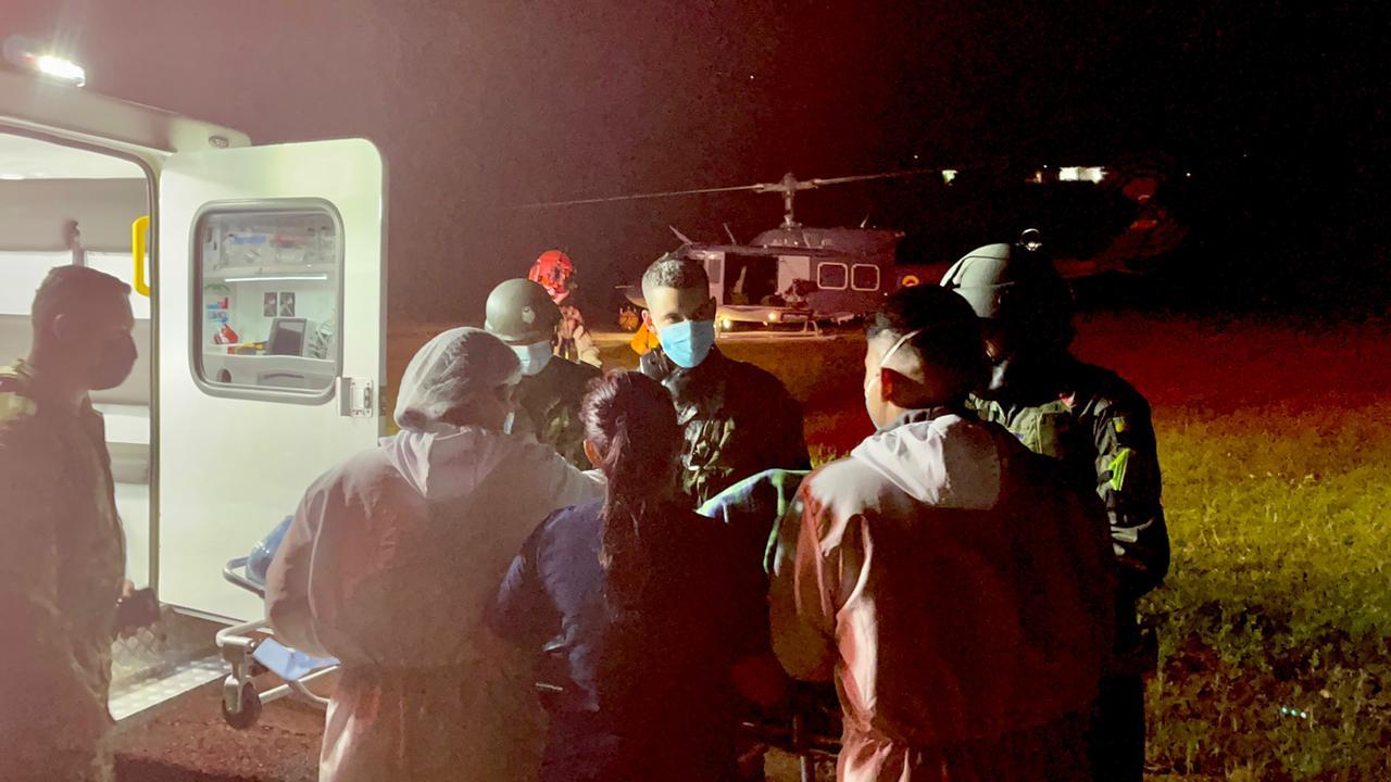 Mujer de 71 años fue trasladada desde Planadas hasta Ibagué por la Fuerza Aérea