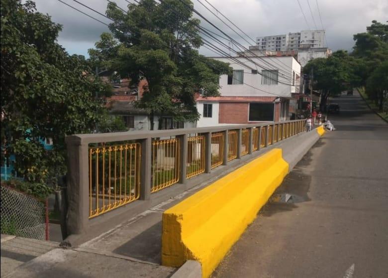 Finalizó la rehabilitación del puente de la calle 37 con Guabinal