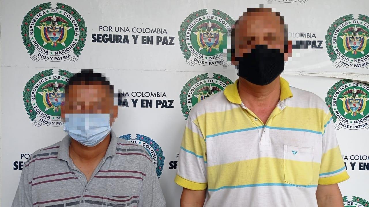 Capturan a dos hombres por delito de hurto agravado
