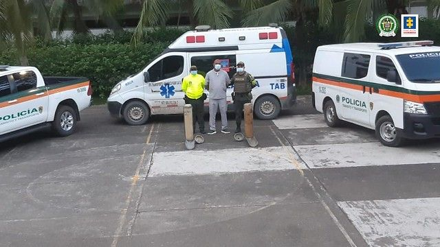 Cárcel para conductor de ambulancia que transportaba cocaína