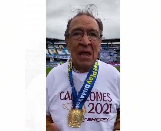 En video: Camargo volvió a llorar de emoción por el título del Deportes Tolima