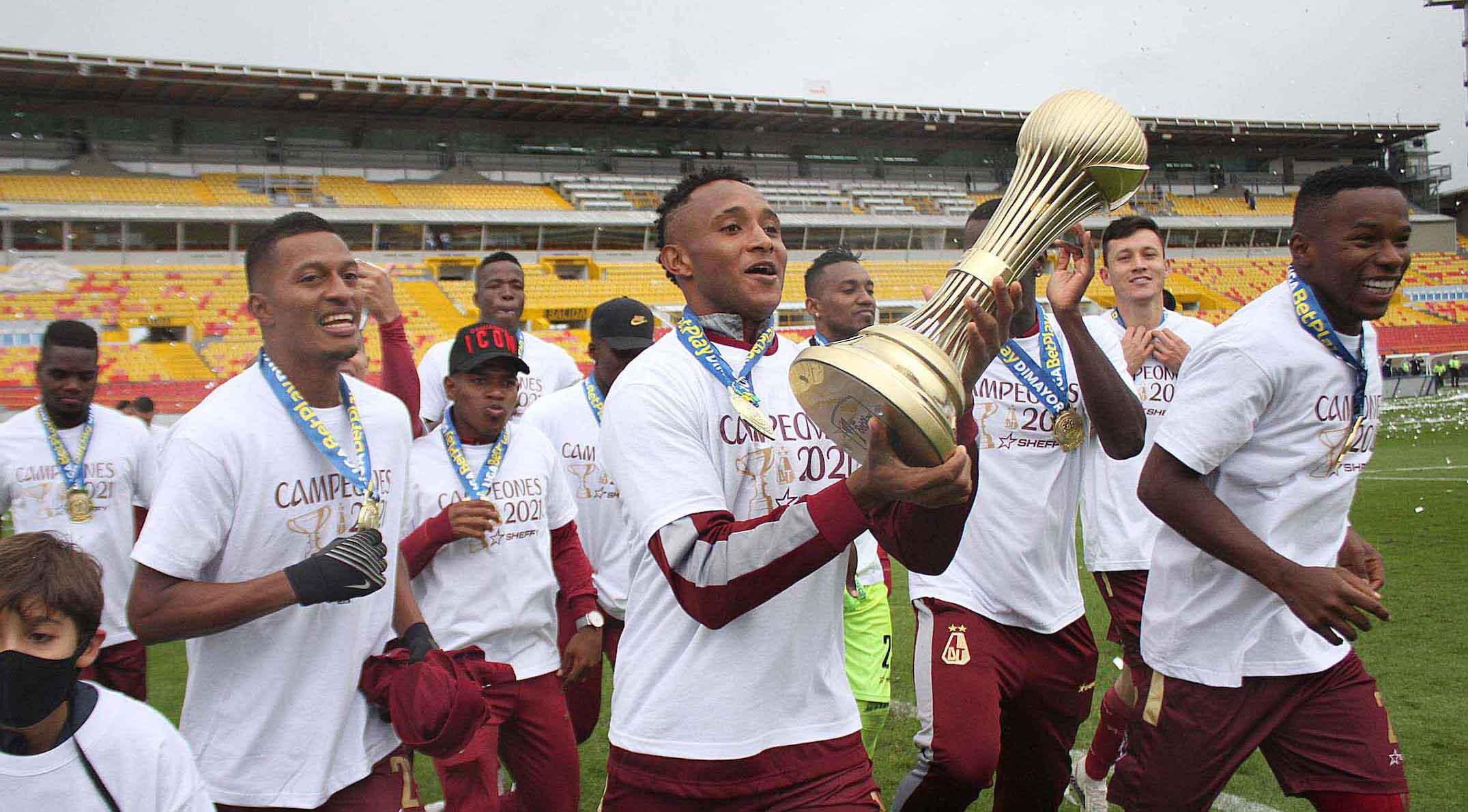 Fotos: Así levantó Deportes Tolima el ansiado trofeo en 'El Campín'