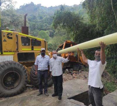 Entregan más de 6.000 metros de tubería para fortalecer acueductos comunitarios