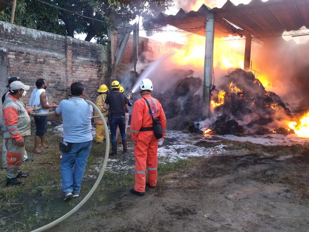 Ardió una bodega en Venadillo