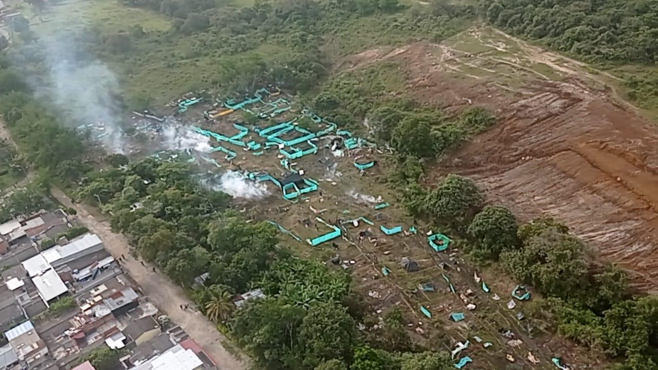Autoridades de Ibagué controlan situación de invasión de predios en la comuna Ocho