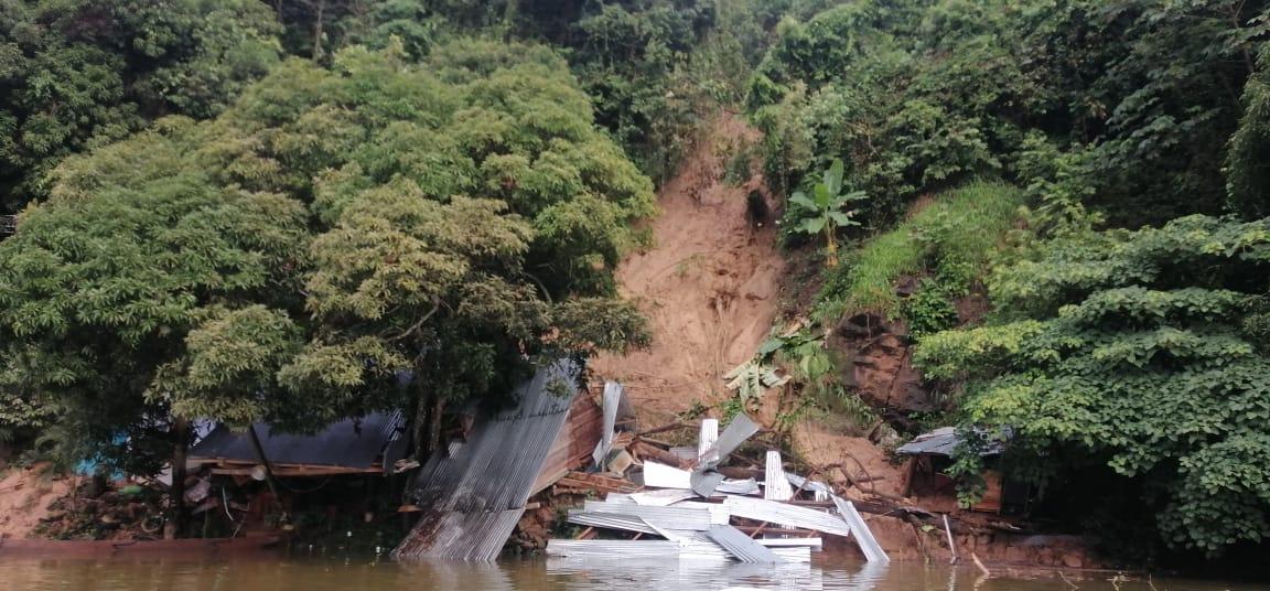 El municipio de Prado reportó remoción en masa en la vereda el Caimán