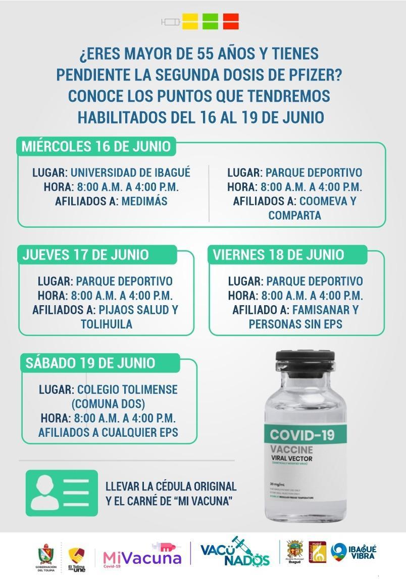 Conozca los puntos habilitados para vacunación contra el Covid-19 esta semana