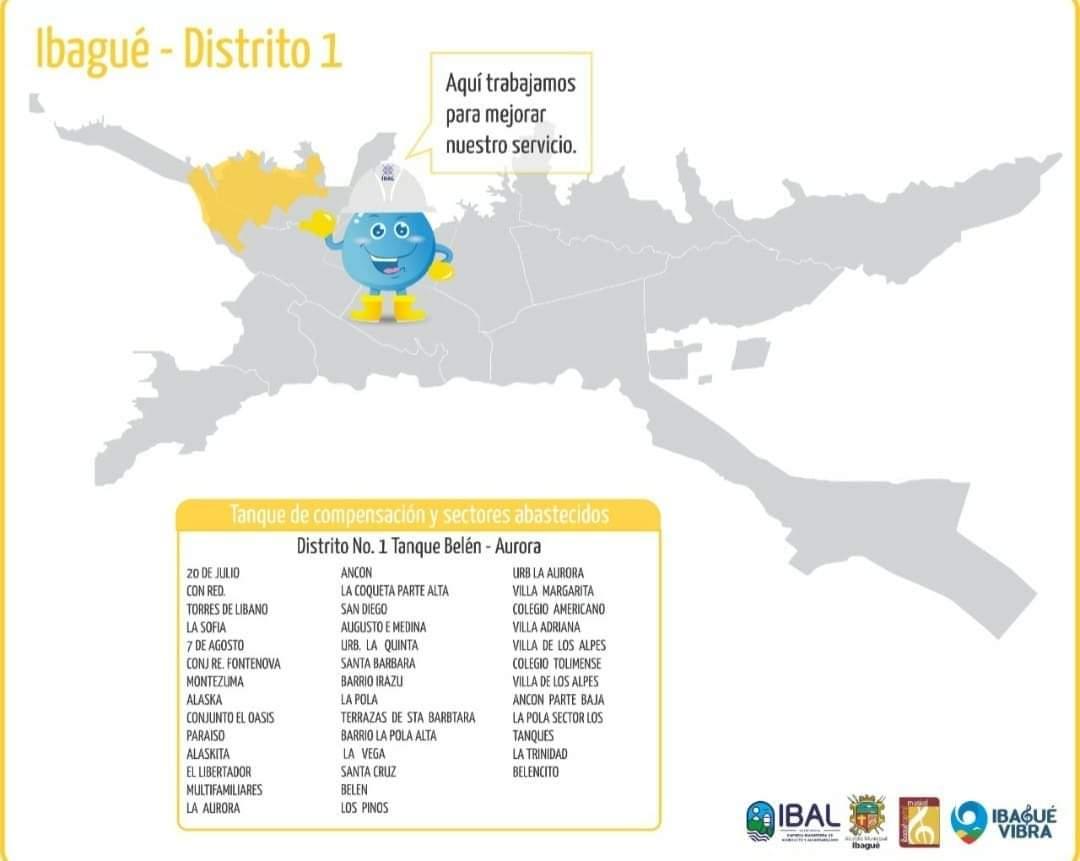 Barrios del centro presentarán bajas presiones en el servicio por arreglo en red matriz del acueducto