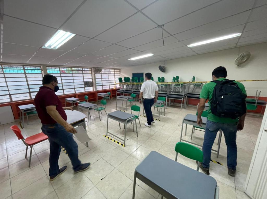 Adelantan inspección a colegios para el retorno presencial a las aulas