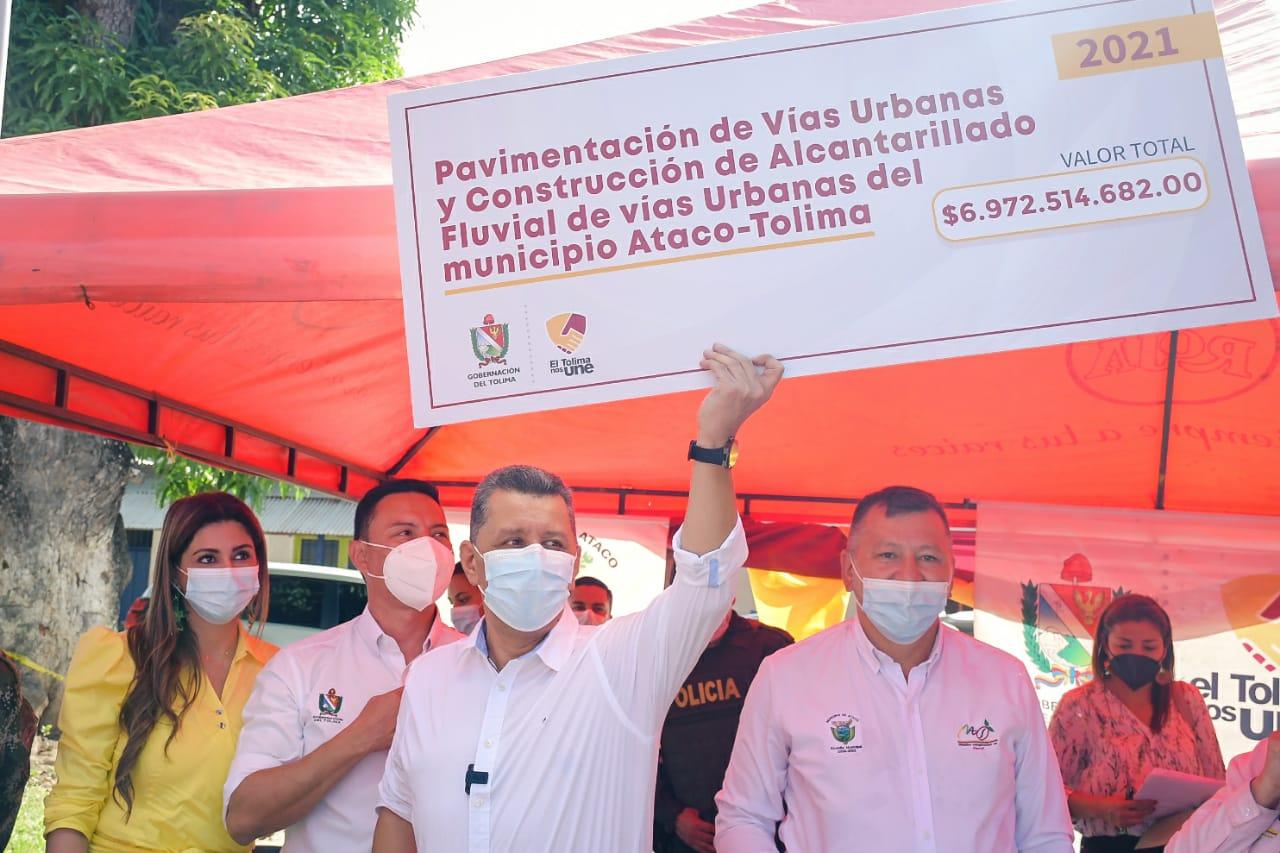 $6.972 millones para pavimentar vías urbanas en Ataco