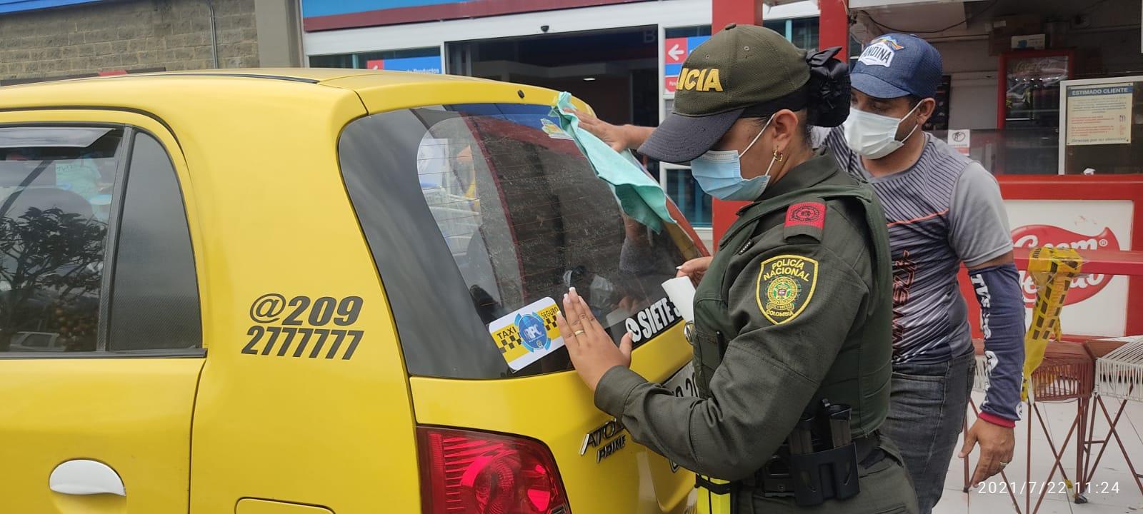 Siguen campañas entre la Policía y los taxistas de Ibagué