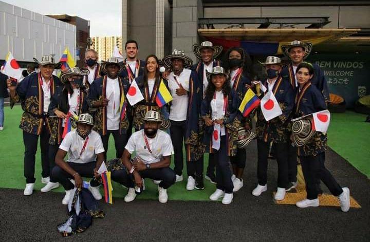 Colombia desfiló con 11 deportistas en la inauguración de los Juegos Olímpicos de Tokio