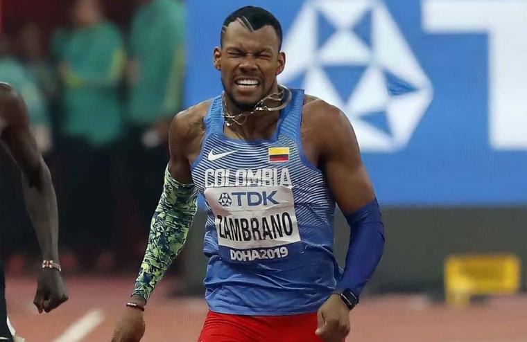 Anthony Zambrano irá este jueves por la gloria en los 400 metros de los olímpicos