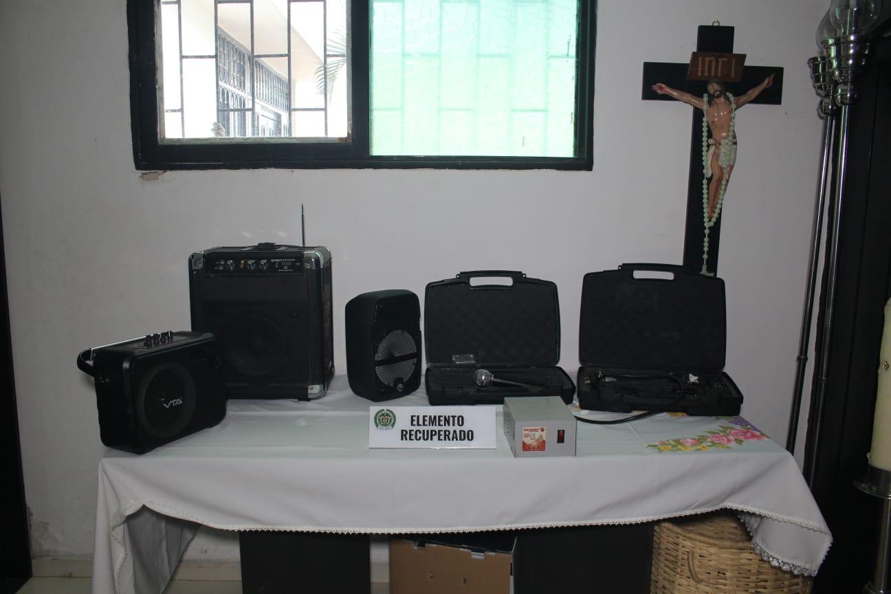 Policía recuperó aparatos robados en la iglesia de Las Brisas
