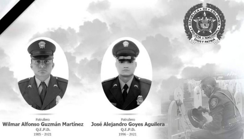 Luto por asesinato de dos policías ibaguereños