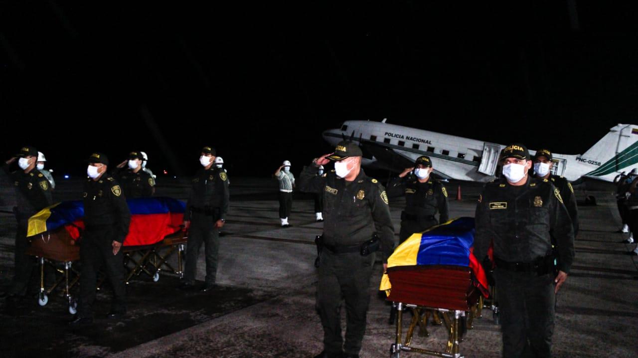 Este martes serán las exequias de los policías ibaguereños asesinados en el Cauca