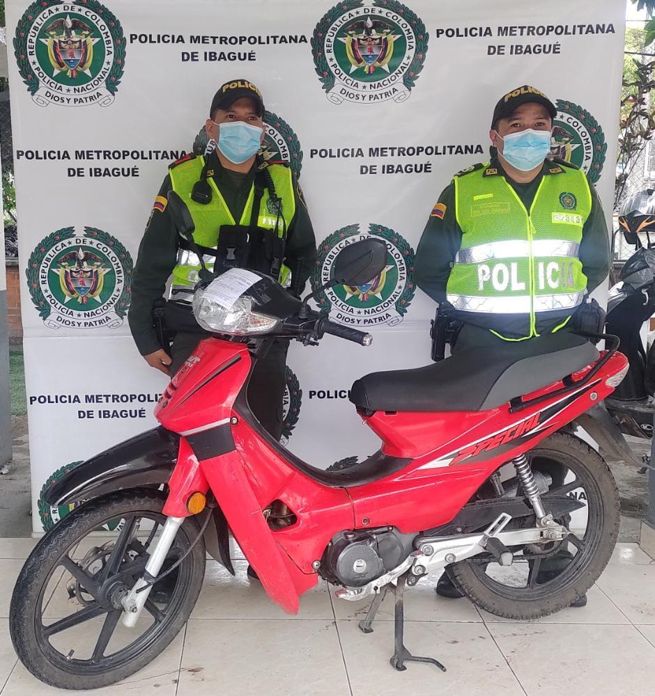 Recuperaron en Ibagué un vehículos y una moto reportados como robados